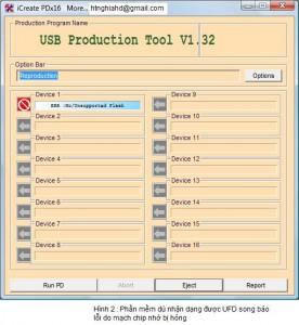 Hướng dẫn kiểm tra USB flash và nạp lại FW cho USB fix lỗi Insert disk in drive, Write-protect Usb2-276x300